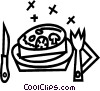 place settings Vector Clip Art picture