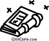 Vector Clipart image  of a notebook