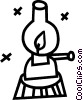 Vector Clipart image  of a oil lamps
