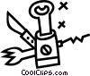 Vector Clip Art image  of a bottle opener