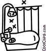 Vector Clip Art graphic  of a bathtub