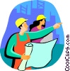 Vector Clipart graphic  of a managers/foremen