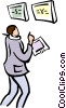 Vector Clipart graphic  of a stock brokers