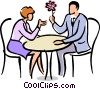 Couples enjoying a conversation Vector Clipart illustration