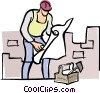 managers/foremen Vector Clip Art picture
