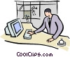 hotel front desk Vector Clip Art picture