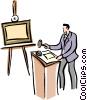 art dealer Vector Clipart image