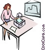 Vector Clipart image  of a woman giving a presentation
