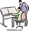 Vector Clip Art graphic  of an architects