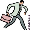 businessman running late for a meeting Vector Clipart illustration