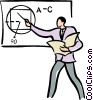 teaching in the classroom Vector Clipart picture