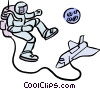 astronaut in space Vector Clipart picture
