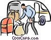 Vector Clip Art image  of a postal worker