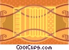 Vector Clip Art image  of an accordion