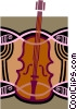 Vector Clip Art image  of a cello