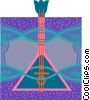 Vector Clipart illustration  of a balalaika