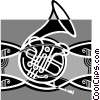 Vector Clip Art graphic  of a French horn