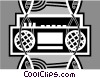 Vector Clipart graphic  of a portable stereo
