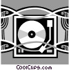 record player Vector Clipart picture