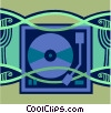 Vector Clipart picture  of a record player