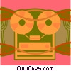 tape player Vector Clipart graphic