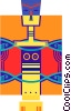 Vector Clip Art image  of a totem pole