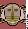 African masks Vector Clip Art picture