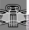 Vector Clipart graphic  of a columns