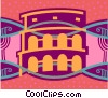 Vector Clip Art image  of a Roman Coliseum