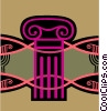 Vector Clip Art graphic  of a columns