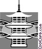 Japanese temple Vector Clipart picture