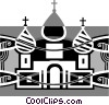 Vector Clip Art picture  of a Russian church