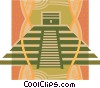Vector Clipart picture  of a Inca pyramid