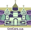 Russian church Vector Clip Art graphic