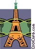 Vector Clipart graphic  of a Eiffel tower