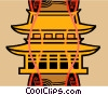 Asian temple Vector Clip Art picture