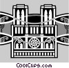Vector Clip Art image  of a buildings in Paris