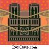 Vector Clip Art graphic  of a building in Paris