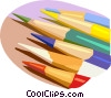 Vector Clip Art graphic  of a colored pencils
