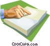 Vector Clipart graphic  of a reading a book