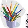 Vector Clipart picture  of a colored pencils