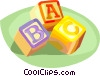 Vector Clipart illustration  of a toy blocks