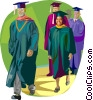 Vector Clipart image  of a graduation day