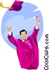 Vector Clip Art graphic  of a graduation day