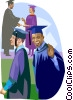 Vector Clipart graphic  of a graduation day