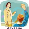 Vector Clip Art image  of a teaching in the classroom
