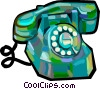 Vector Clipart graphic  of a home telephones