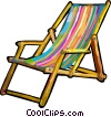 Vector Clip Art picture  of a patio chair