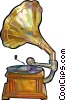 Vintage Phonograph Vector Clipart illustration