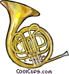 Vector Clipart image  of a French horn